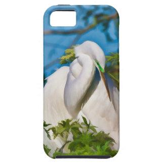 Great Egret in Motherhood Moment iPhone SE/5/5s Case