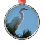 Great Egret in Sunny Florida Metal Ornament