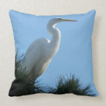 Great Egret in Sunny Florida Throw Pillow
