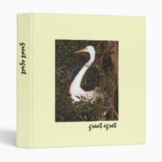 Great Egret in Tree Avery Binder