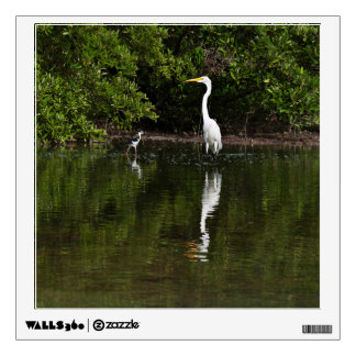 Great Egret In Water Wall Decal