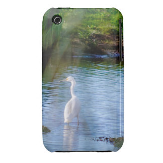 great egret in wetlands iPhone 3 Case-Mate case