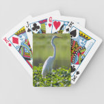 Great Egret, Iquitos, Maynas, Peru Bicycle Playing Cards