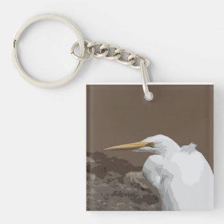 Great Egret Acrylic Keychains
