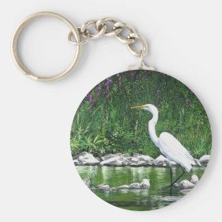 """""""Great Egret"""" Keychain"""