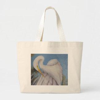 Great Egret Large Tote Bag