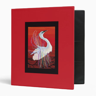 Great Egret Mosaic binder