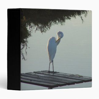 Great Egret on Raft Avery Binder