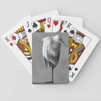Great Egret Poker Cards