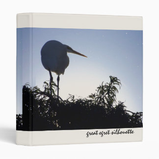 Great Egret Silhouette Binder