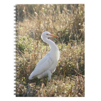Great Egret Spiral Photo Notebook