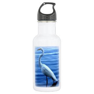 Great Egret Standing Tall 18oz Water Bottle