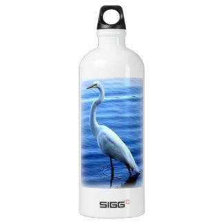 Great Egret Standing Tall Aluminum Water Bottle