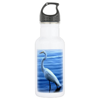 Great Egret Standing Tall Stainless Steel Water Bottle
