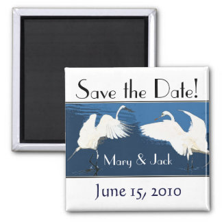 Great Egrets Birds Save the Date Magnet