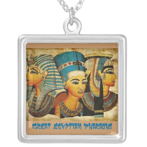 Great Egyptian Pharaohs Square Pendant Necklace