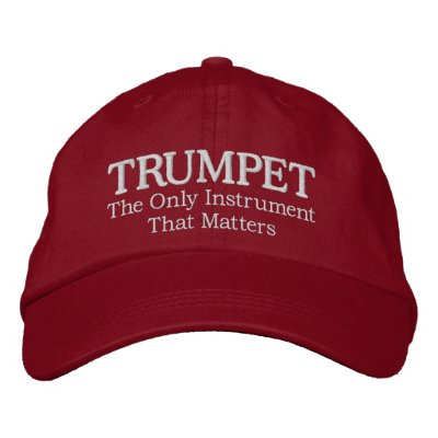 Great Embroidered Trumpet Music Cap Baseball Cap