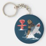 Great Escape - caballería del tiburón del oso Llaveros Personalizados
