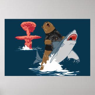 Great Escape - caballería del tiburón del oso Posters