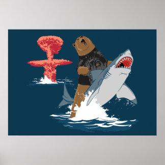 Great Escape - caballería del tiburón del oso Póster