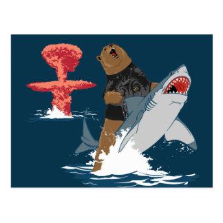 Great Escape - caballería del tiburón del oso Postales