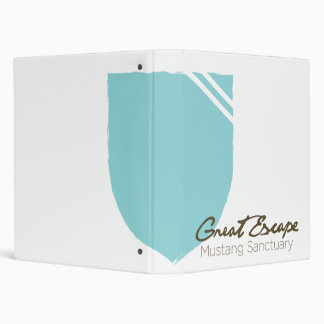Great Escape Mustang Sanctuary Shield and Logotype 3 Ring Binder