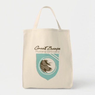 Great Escape Mustang Sanctuary Small Tote Canvas Bags