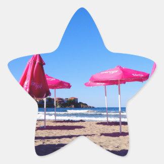 Great Escape: Playa de Sozopol Pegatina En Forma De Estrella