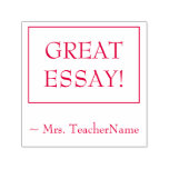 """[ Thumbnail: """"Great Essay!"""" Instructor Feedback Rubber Stamp ]"""
