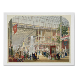 Great Exhibition, 1851: Central Transept of the Cr Poster