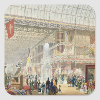 Great Exhibition, 1851: Central Transept of the Cr Square Sticker