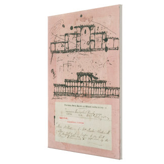 Great Exhibition, 1851: first sketch for the build Canvas Print