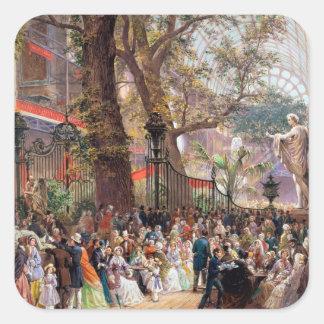 Great Exhibition, 1851: interior Square Sticker