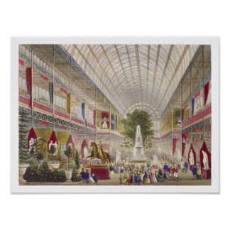 Great Exhibition, 1851: South Transept, from Inter Poster