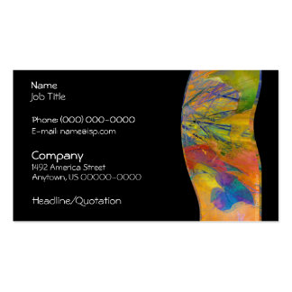 Great Expectations Abstract Profile Card Business Card Templates