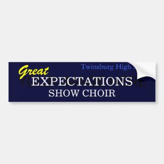 Great Expectations Car Bumper Sticker