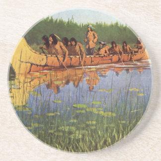 Great Explorers by Remington, Vintage Frontiersmen Coasters