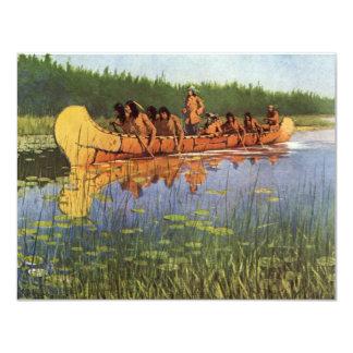 Great Explorers by Remington, Vintage Frontiersmen 4.25x5.5 Paper Invitation Card