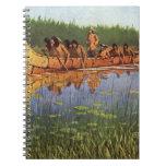 Great Explorers by Remington, Vintage Frontiersmen Note Book