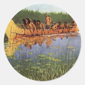 Great Explorers by Remington Vintage Frontiersmen Round Sticker