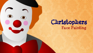 Face painting business cards zazzle great face painting business cards colourmoves