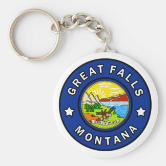 Great Falls Montana Keychain