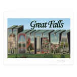 Great Falls, Montana - Large Letter Scenes Post Card
