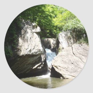 Great Falls of the Dan Classic Round Sticker