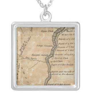 Great Falls of the Missouri Silver Plated Necklace