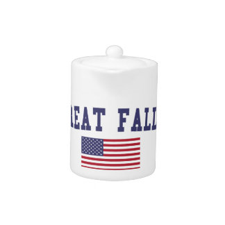 Great Falls US Flag Teapot
