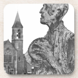Great Famine of Ireland statues in Dublin Drink Coaster