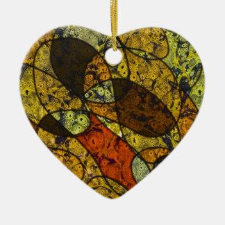 great feelings Double-Sided heart ceramic christmas ornament