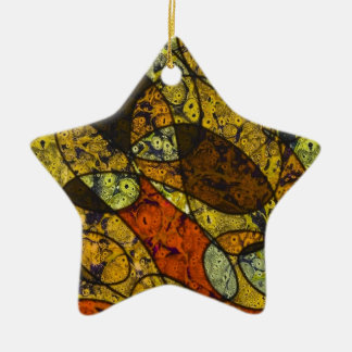 great feelings Double-Sided star ceramic christmas ornament