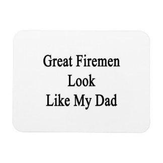 Great Firemen Look Like My Dad Rectangular Magnets